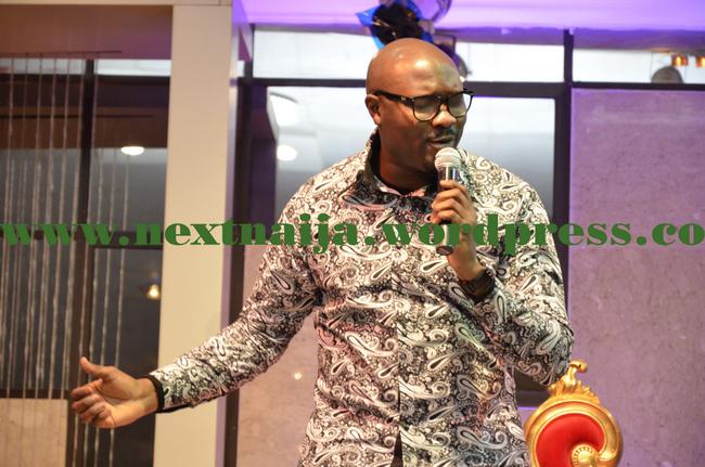 Singer Segun Obey on stage