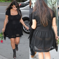Photo Gallery:Comprehensive Kim Kardashian's fabulous & sexy maternity styles