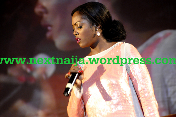 Tiwa Savage on stage at the Red Ball event 2012
