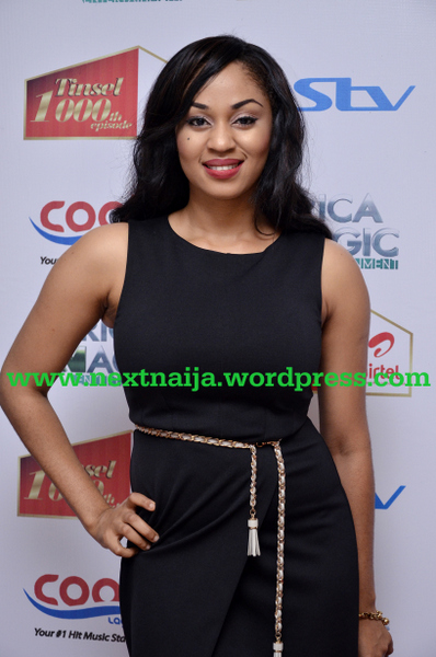 Munachi attends Tinsel's 1000th episode celebration party held at Eko Hotel recently.