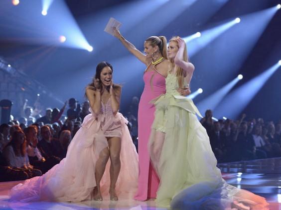 Heidi Klum announced Lovelyn Enebechi as the Winner- Germany's next Top Model 2013