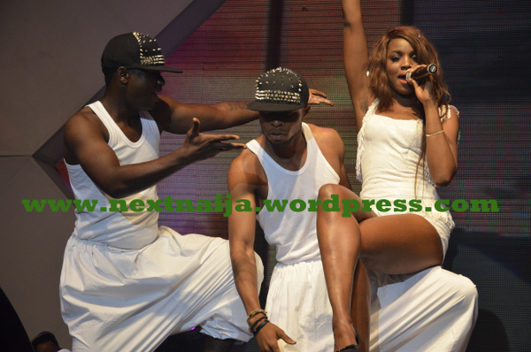 Seyi Shay on stage at Eko Hotel for AY live 2013