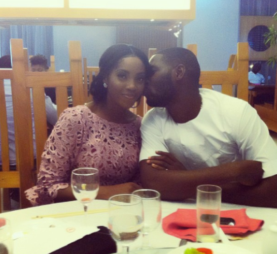 Tiwa Savage and fiance Teebillz