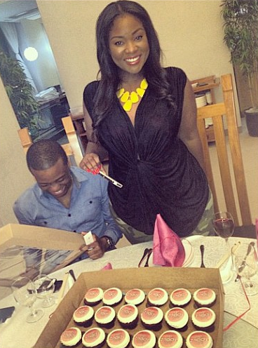 Toolz with her boo, Captain Tunde Demuren
