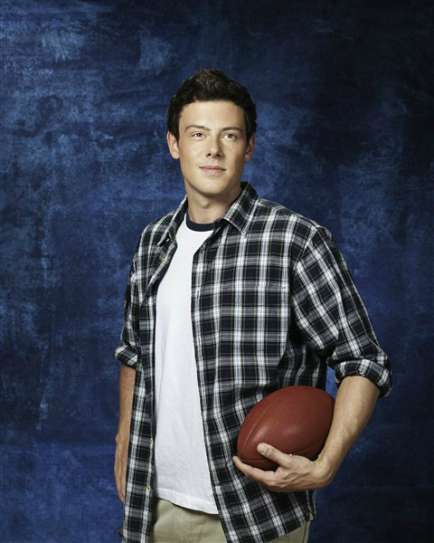 """Cory Monteith as Finn in """"Glee"""""""