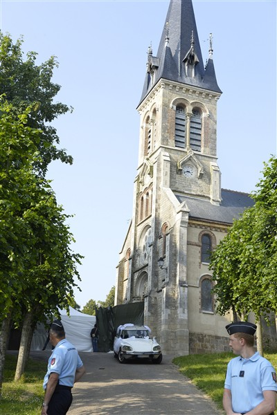 The chapel is photographed as Halle Berry arrives at her wedding to Olivier Martinez at Chateau des Conde in Vallery, France, on July 13, 2012
