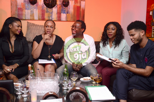 Karen Igho with July Edition of GTB Judges – Colette Otusheso, Kelechi Amadi-Obi, Kaylah Oniwo, Asa Asika